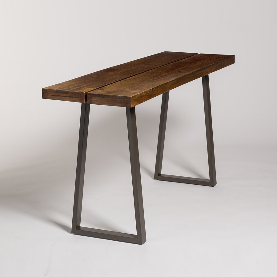 Brooklyn console table alder tweed furniture brooklyn console geotapseo Choice Image