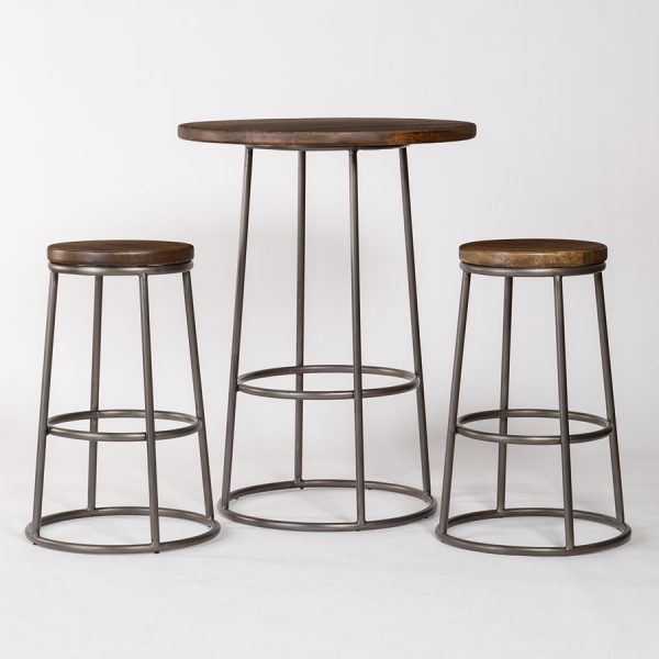 Loft Pub Table And 2 Loft Bar Stools Alder Amp Tweed Furniture