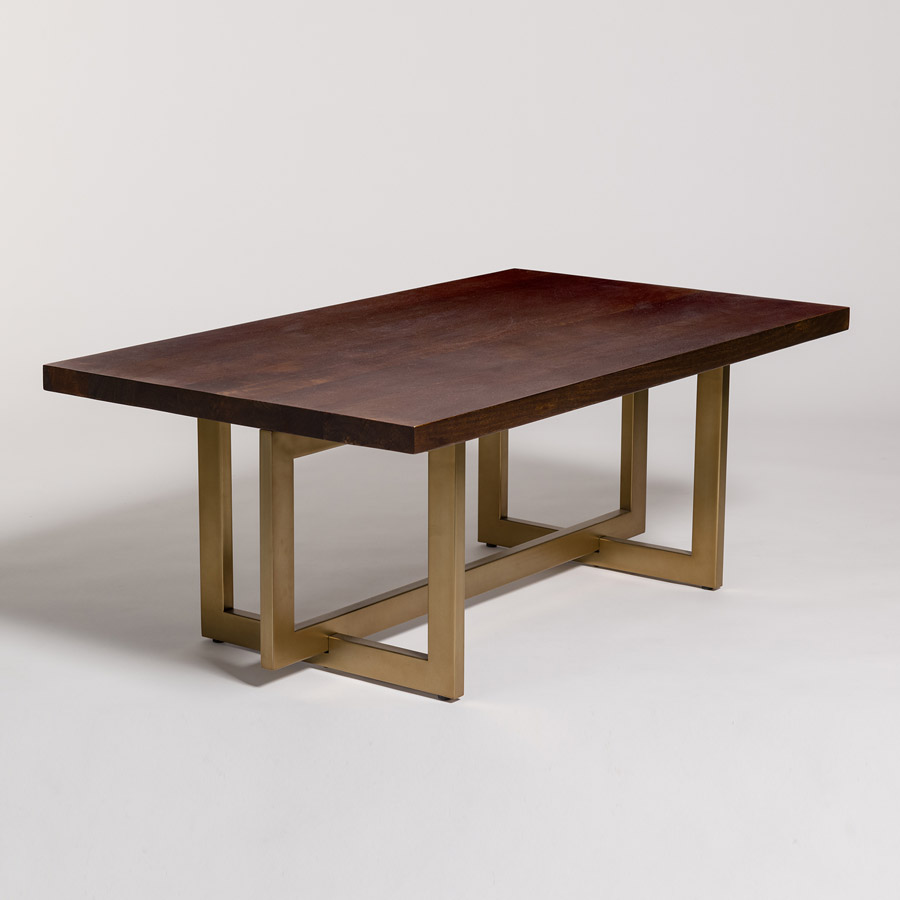 Manhattan coffee table alder tweed furniture for Living coffee table