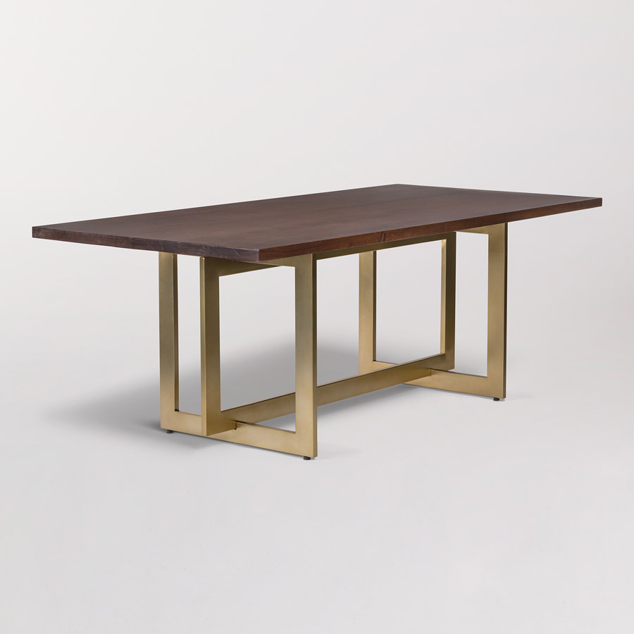 Manhattan dining table alder tweed furniture for Shopping for dining tables