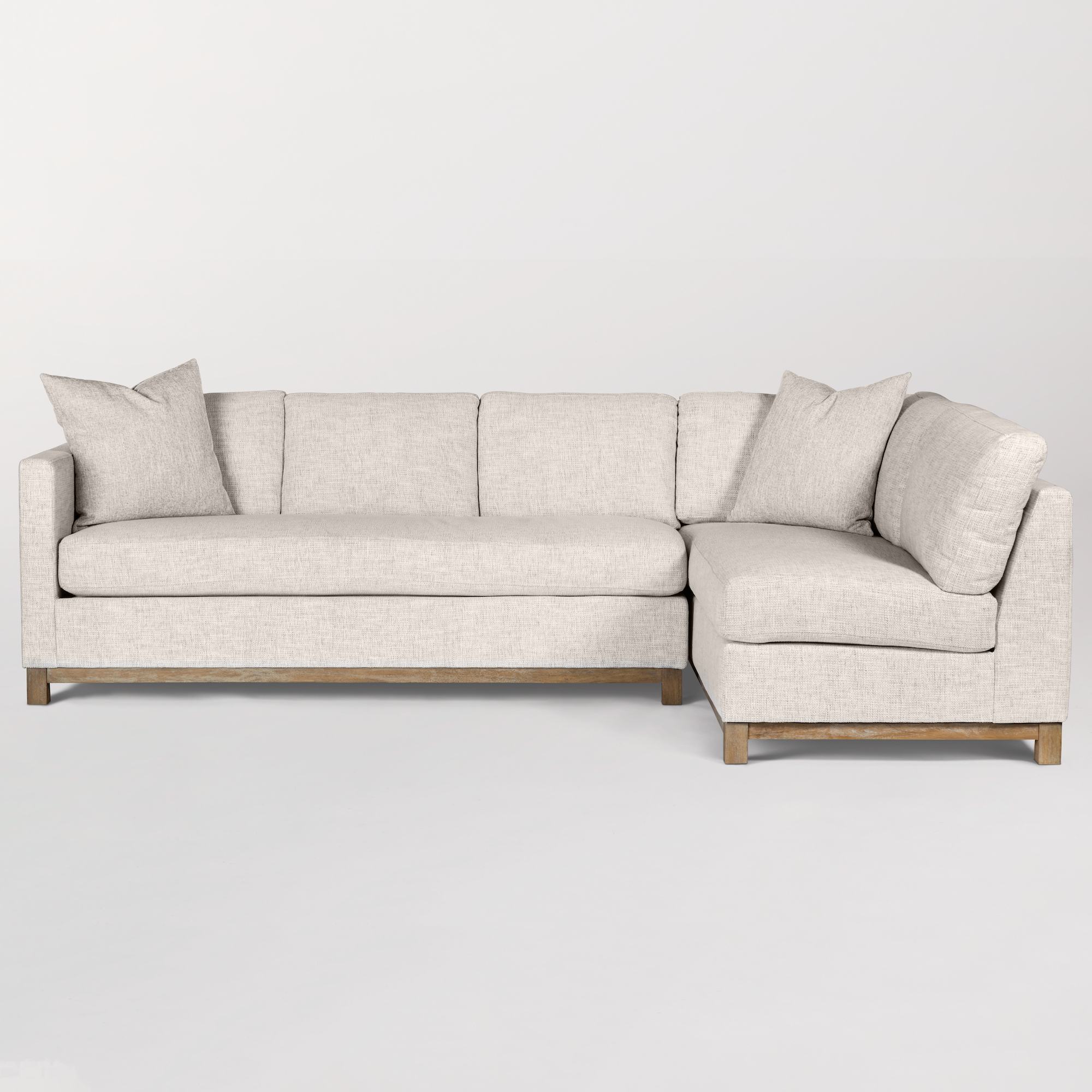 Clayton Sectional Right Arm Facing Alder Amp Tweed Furniture