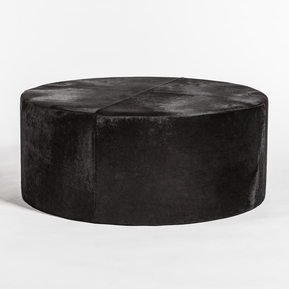St Francis Leather Ottoman