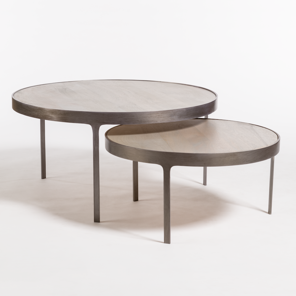 Black Coffee Table Nest: Alder & Tweed Furniture