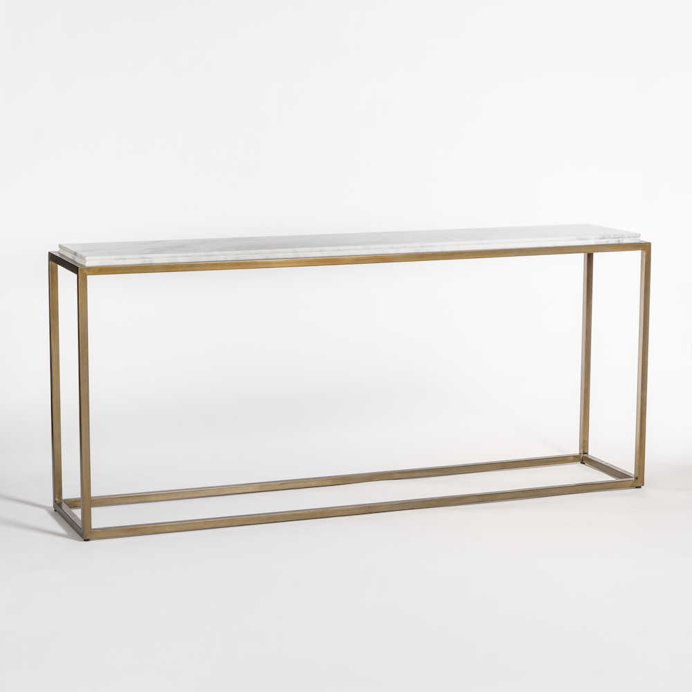 Beckett 72 console table alder tweed furniture for Sofa table 72