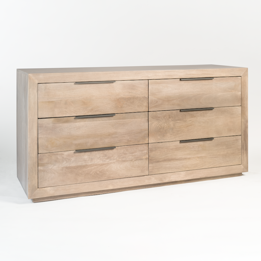 Holden Six Drawer Dresser Alder Tweed Furniture