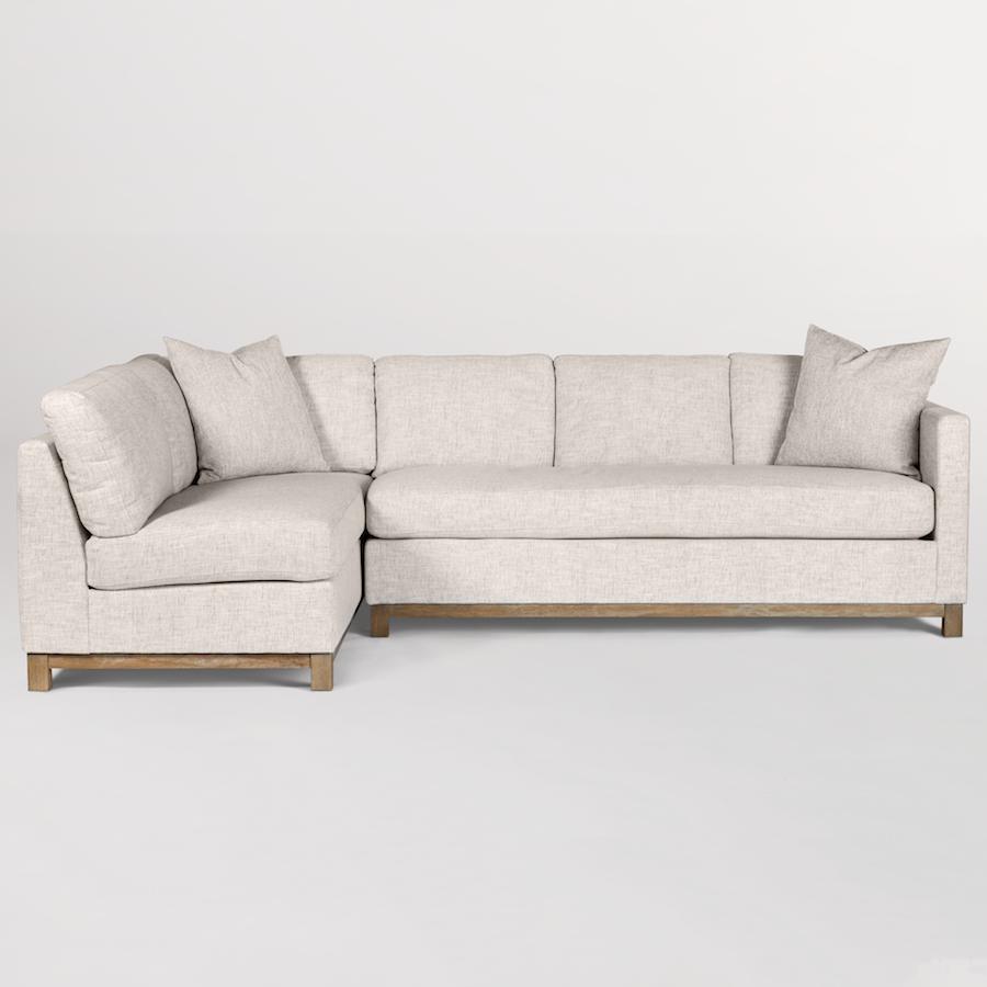 Wondrous Clayton Sectional Left Facing Chaise Laf Alder Tweed Pabps2019 Chair Design Images Pabps2019Com